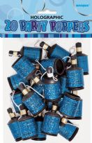 Blue Glitz Party Poppers (20)